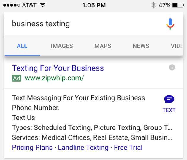 google-adwords-click-to-text-ad