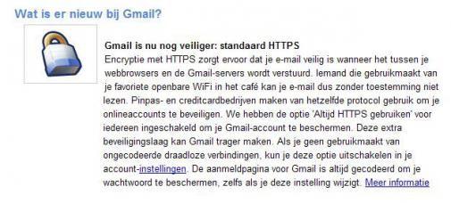 Google beveiligt Gmail beter