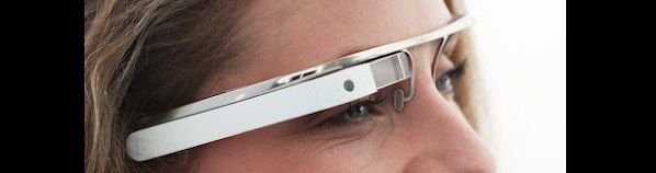 Google CEO test Project Glass tijdens publiek evenement