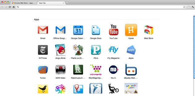 Google Chrome Web Store nu ook met Nederlandse Apps.