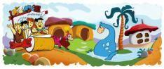 Google Doodle 50 jaar Flintstones