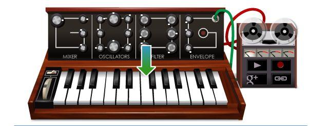 Google Doodle ter ere van Robert Moog