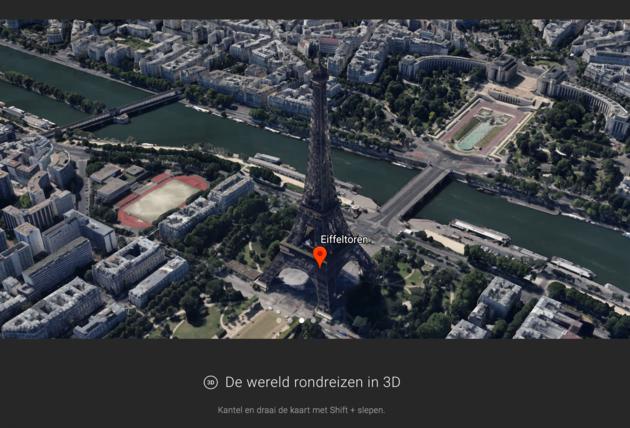 Dit is de nieuwe google earth redesign en 3d view - Schans handig ...