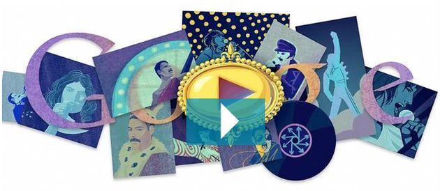 Google eert Freddie Mercury met Doodle