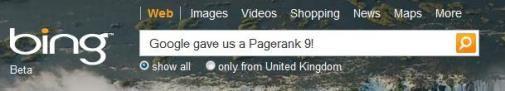 Google geeft Bing een 9...