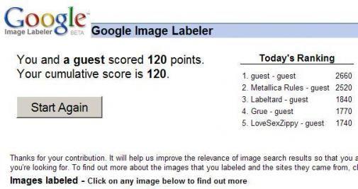 Google Image Labeler: online labelspel