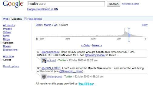 Google is nu ook het geheugen van Twitter