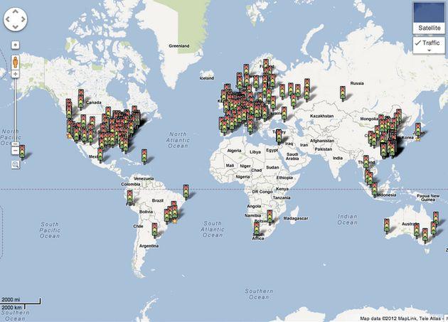 Google: Live Traffic beschikbaar in 7 nieuwe landen, 19 andere zijn geupdate