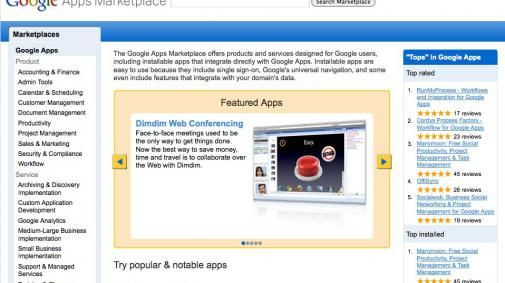 Google opent Apps Marketplace