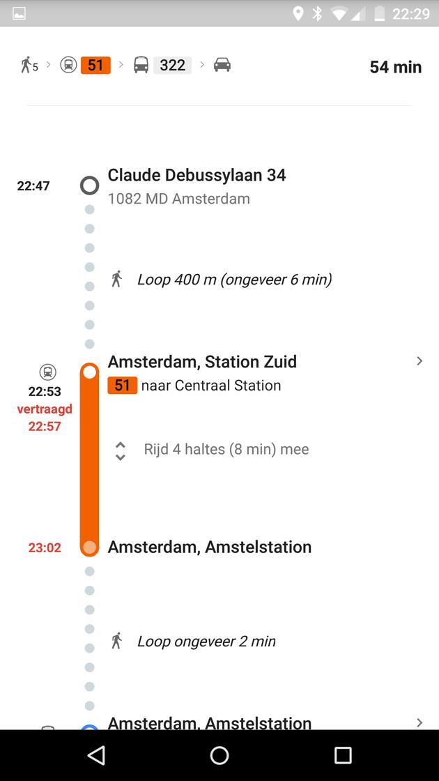 Google OV informatie metro-kleur-en-vertraging
