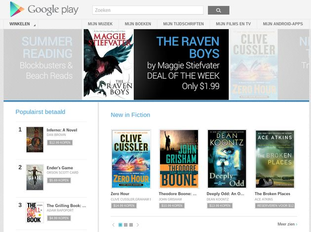 Google Play Books komt naar Nederland