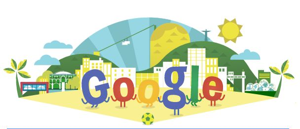Google's WK voetbal 2014 Doodle