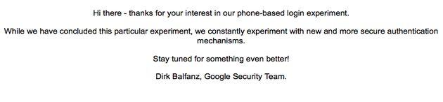 Google Sesame, inloggen met een QR-code
