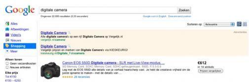 Google Shopping nu ook in Nederland beschikbaar