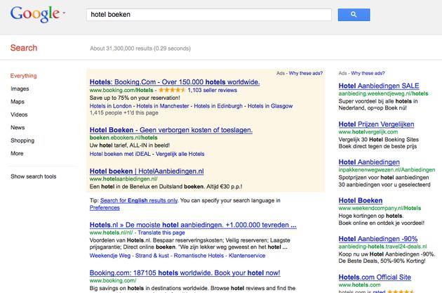 Google : teveel ads boven 'the fold' is niet goed voor gebruikerservaring