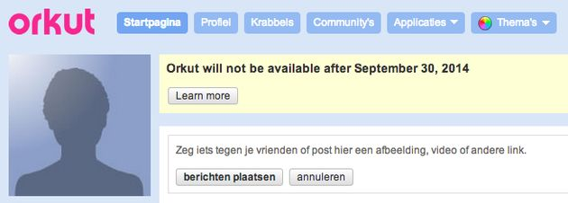 Google trekt 30 september de stekker uit Orkut