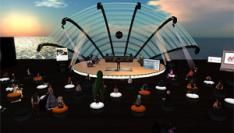 Gratis concert in ActiveWorlds