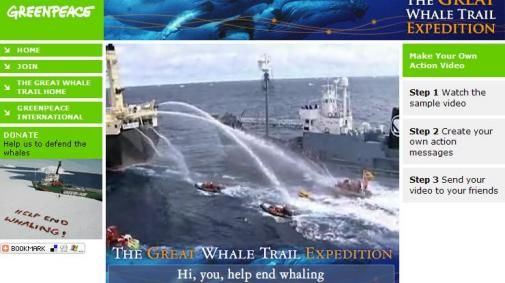 Greenpeace viral 'Help end whaling'