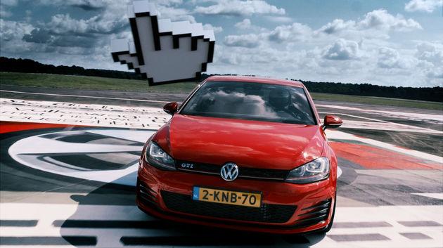 GTI Bannerbahn: Volkswagen organiseert race over levensgrote websites
