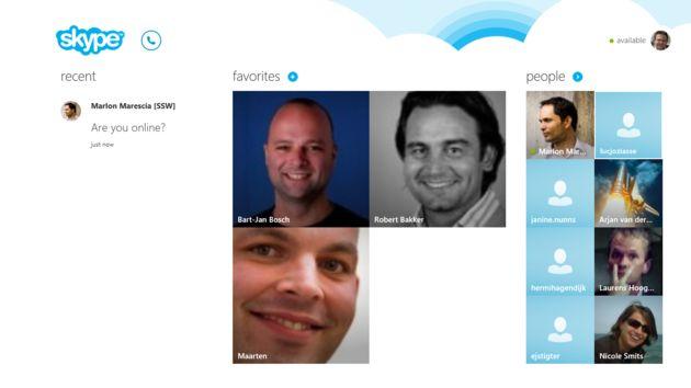Heel bijzonder, de nieuwe Skype-app voor Windows 8