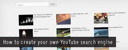 Hoe maak je een eigen YouTube zoekmachine?