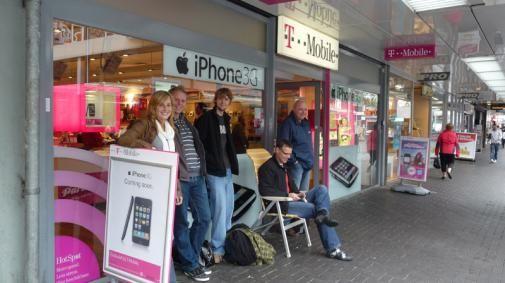 In de rij voor een iPhone