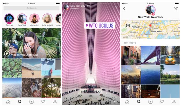 Instagram voegt locatie- en hashtag Stories aan Explore toe