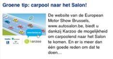 iPhone app loodst je door Belgische Autosalon