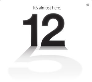 iPhone5 het aftellen naar 12 september is begonnen