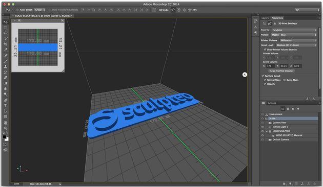 Je kan nu Sculpteo gebruiken voor 3D printen vanuit Photoshop