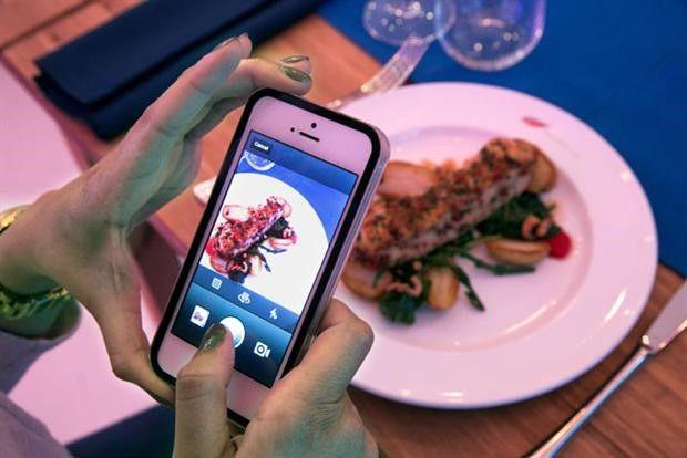 Je maaltijd betalen met een foto op Instagram