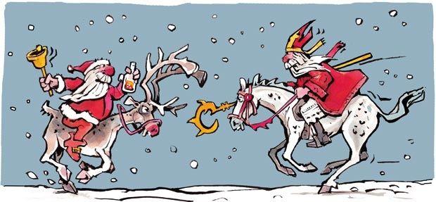 Kerstman verslaat Sinterklaas in populariteitsstrijd