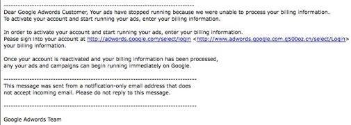 Kijk uit voor Google Phishing mail