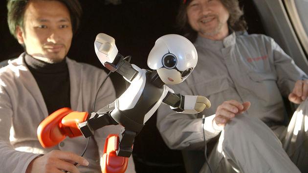 Kirobo, Toyota's pratende robot, gaat de ruimte in