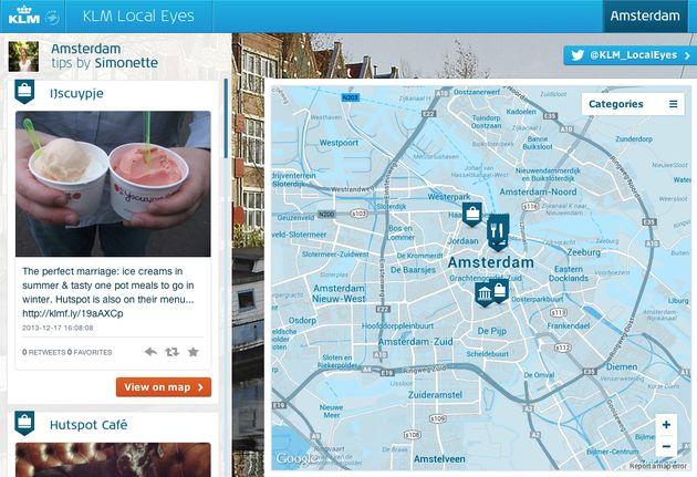 KLM inspireert reizigers via twitter met @KLM_LocalEyes