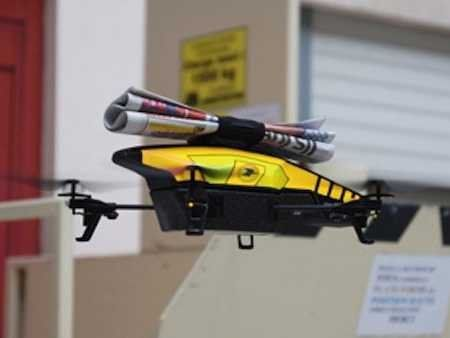 Krantenjongen wordt drone