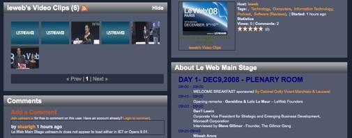 LeWeb 2008 feeds
