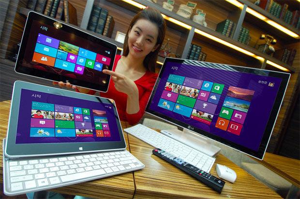 LG kondigt Windows 8 12-inch slider laptop en all-in-one pc aan