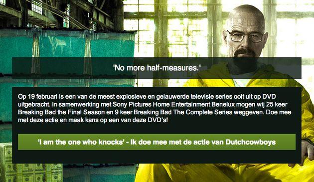 Like & Win: Maak kans op 25x de DVD 'Breaking Bad Final Season' en 9x de DVD box 'Breaking Bad The Complete Series'