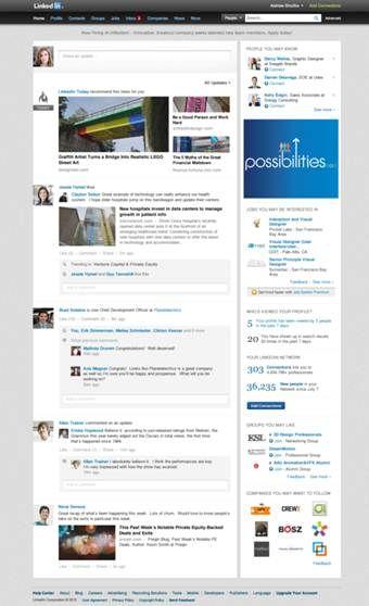 LinkedIn verschijnt vandaag met nieuwe homepage