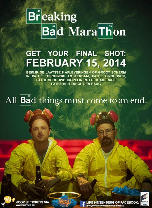 Maak kans op een van de 25x2 kaarten voor de Breaking Bad Marathon in Pathé #BBMarathon