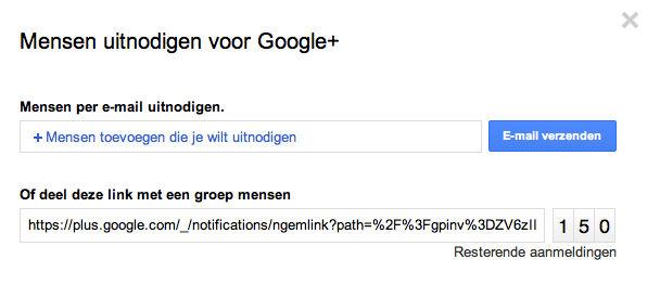 Makkelijker vrienden uitnodigen voor Google+