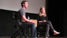 Mark Zuckerberg tijdens Startup School