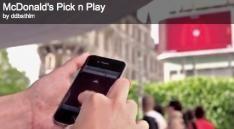 McDonald's interactieve billboard 'Pick n' Play!'