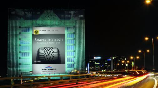 Mega billboard campagne Vredestein in heel Europa