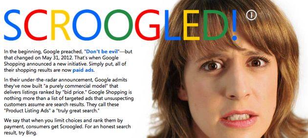 "Microsoft actie tegen Google Shopping: ""Don't Get Scroogled"""