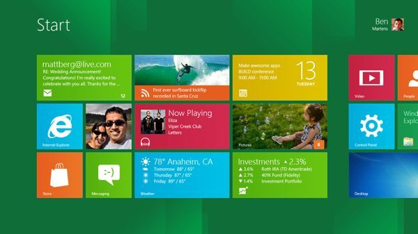 Microsoft Windows 8 komt er aan en oogt geweldig