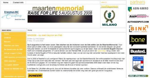 Milano MaartenMemorial 2008: Raise for Life
