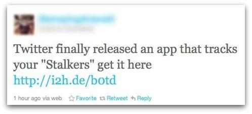 """Nee Twitter heeft geen """"Stalkers app"""" uitgebracht"""
