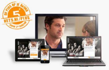 Net5 lanceert tweede scherm Net5+ voor primetime series en programma's
